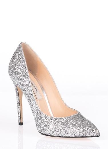 Pier Lucci Deri Topuklu Ayakkabı Gümüş